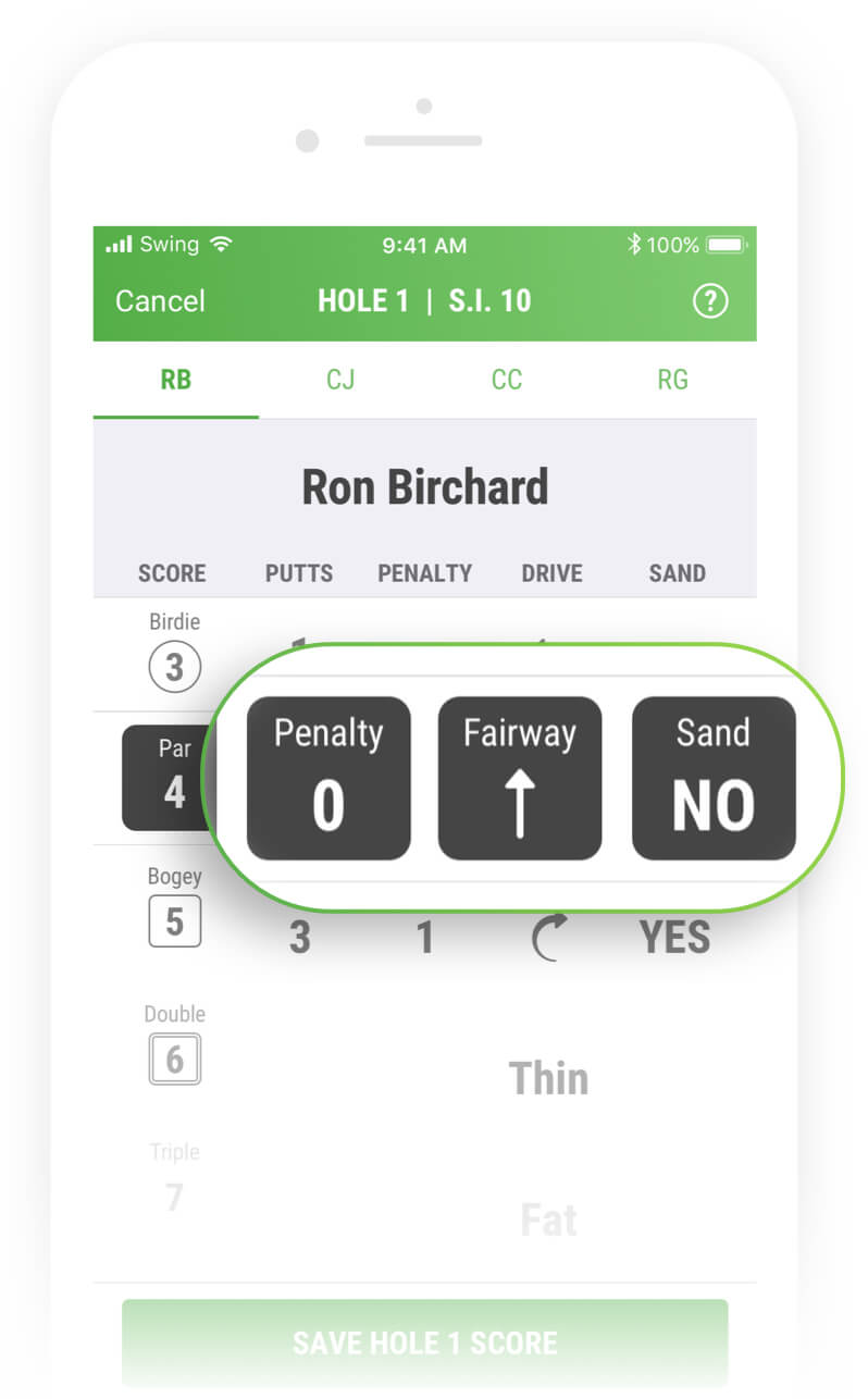 Add Drive Direction, Bunker Play & Penalties