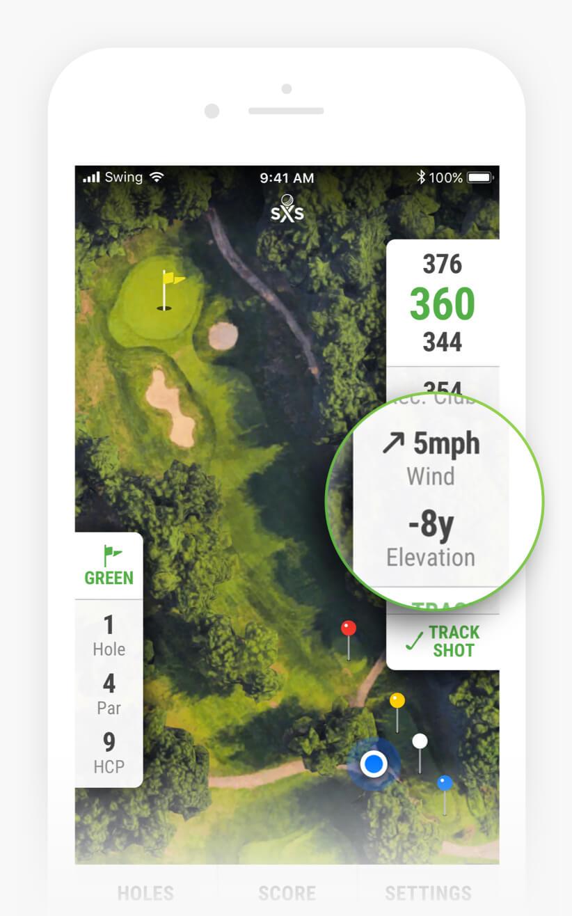 Swing By Swing - App Features - Wind Speed & Elevation