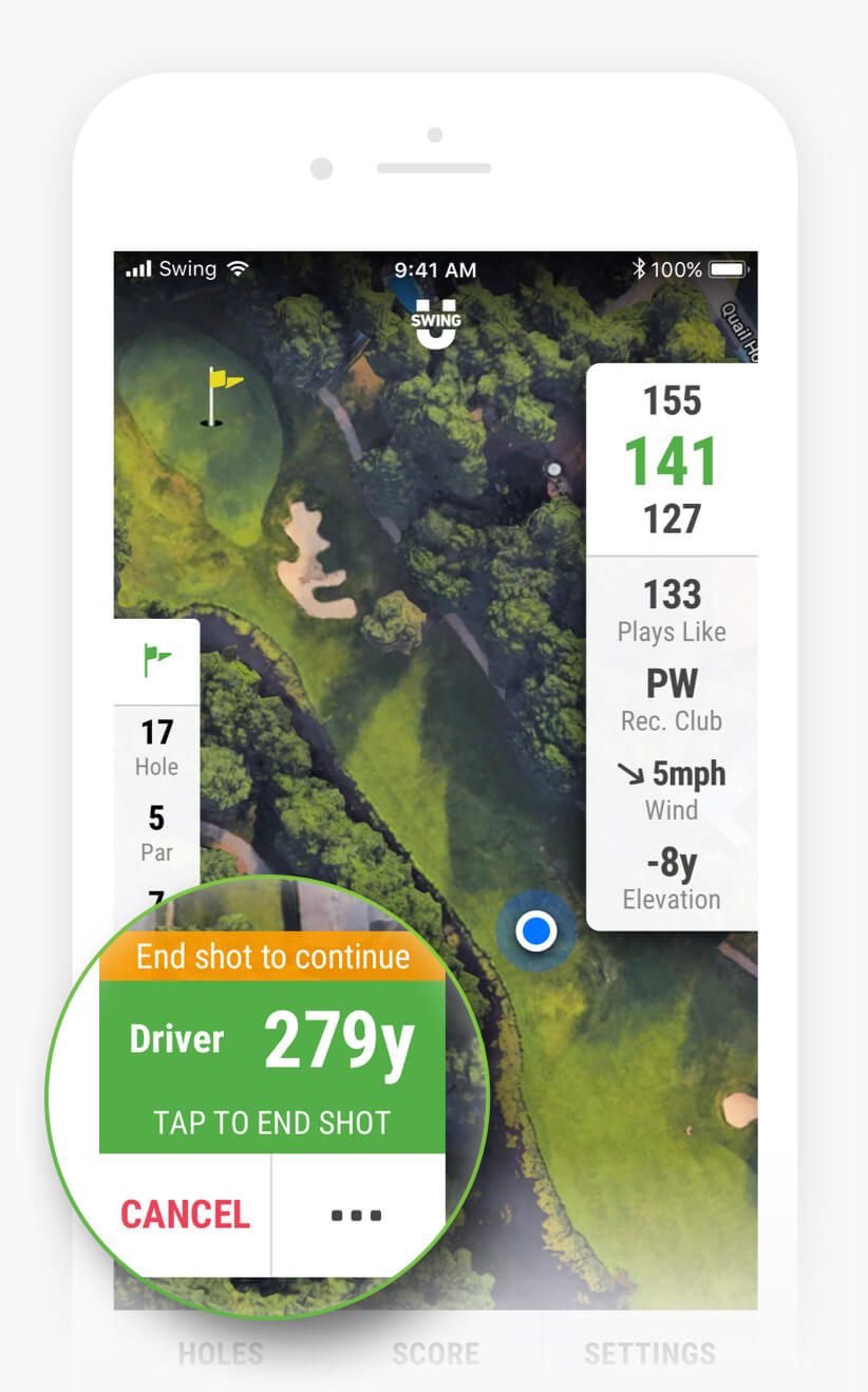 Shot Tracking & Club Recommendations