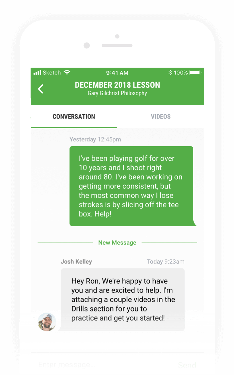Golf Instruction - 1-on-1 Lessons with an In-App Coach