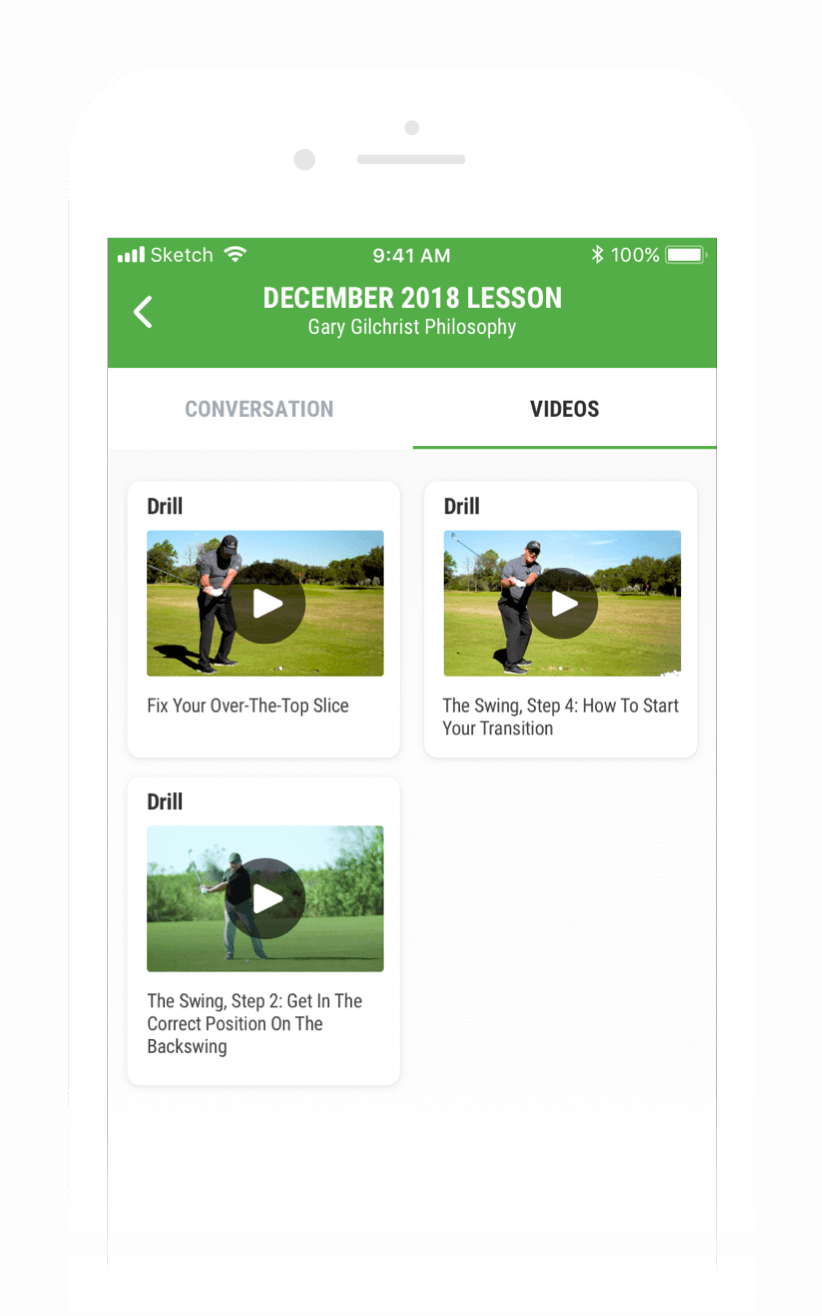 Golf Instruction - In-App Coach