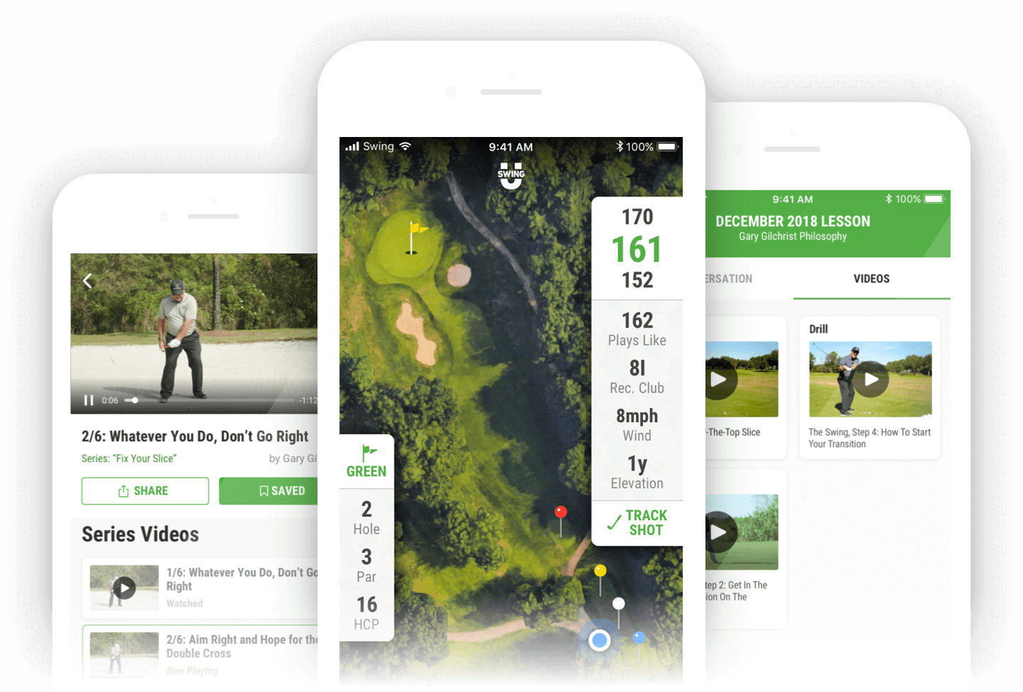 SwingU Golf GPS App