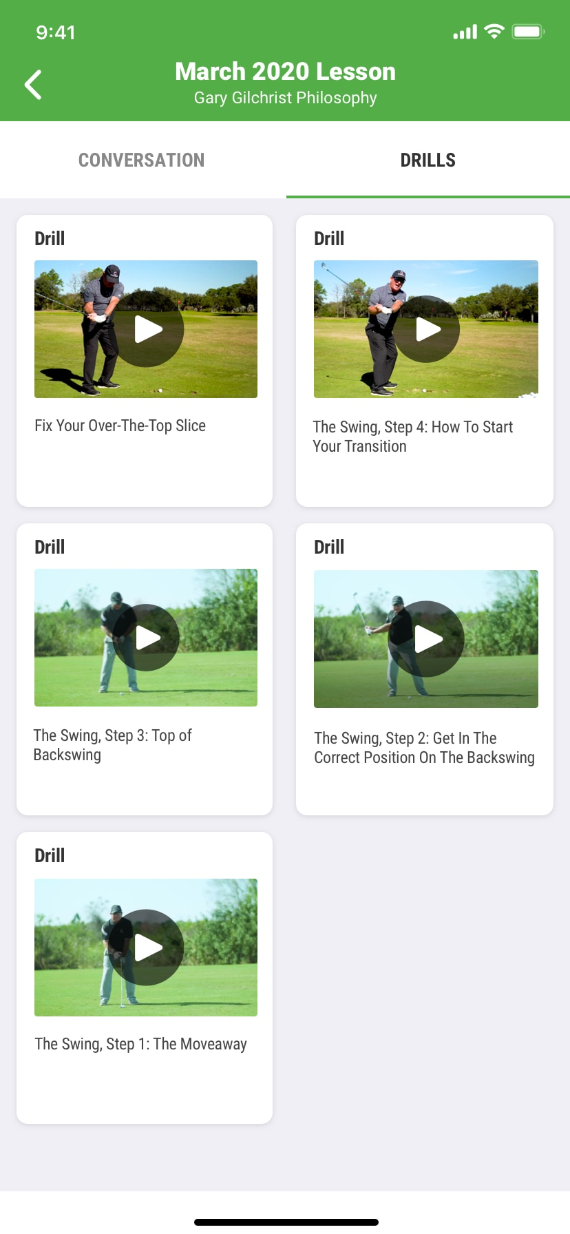 SwingU - Screenshot - SwingU Golf Lessons