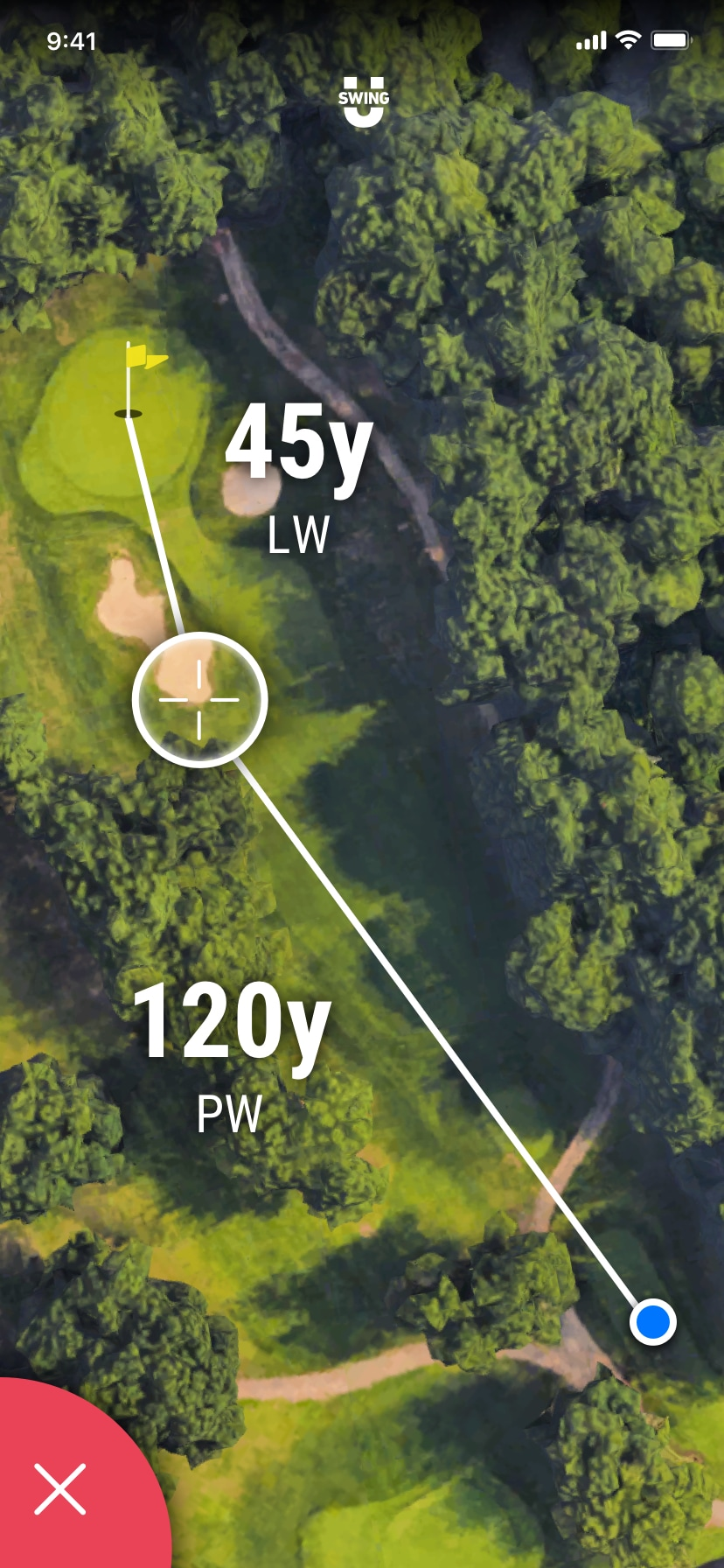 SwingU - Screenshot - SwingU Golf GPS Distances