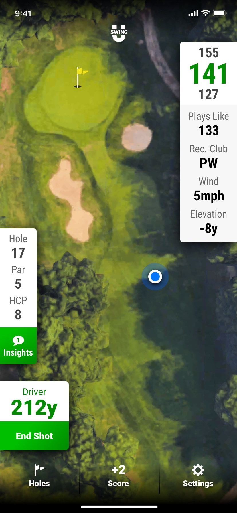 SwingU - Screenshot - SwingU Golf Tracking Shots