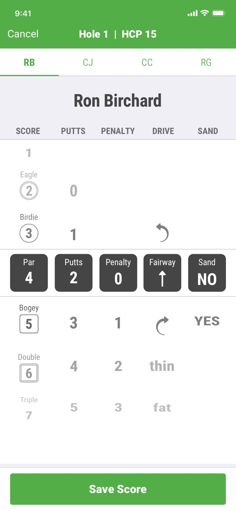 SwingU - Screenshot - SwingU Golf Digital Scorecard