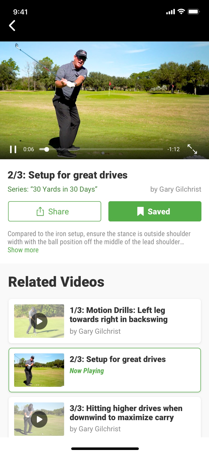 SwingU - Screenshot - SwingU Golf Instructional Videos