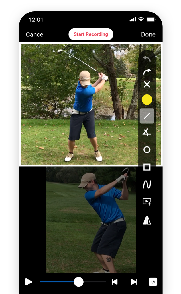 SwingU Academies-Coach App-Swing Analysis