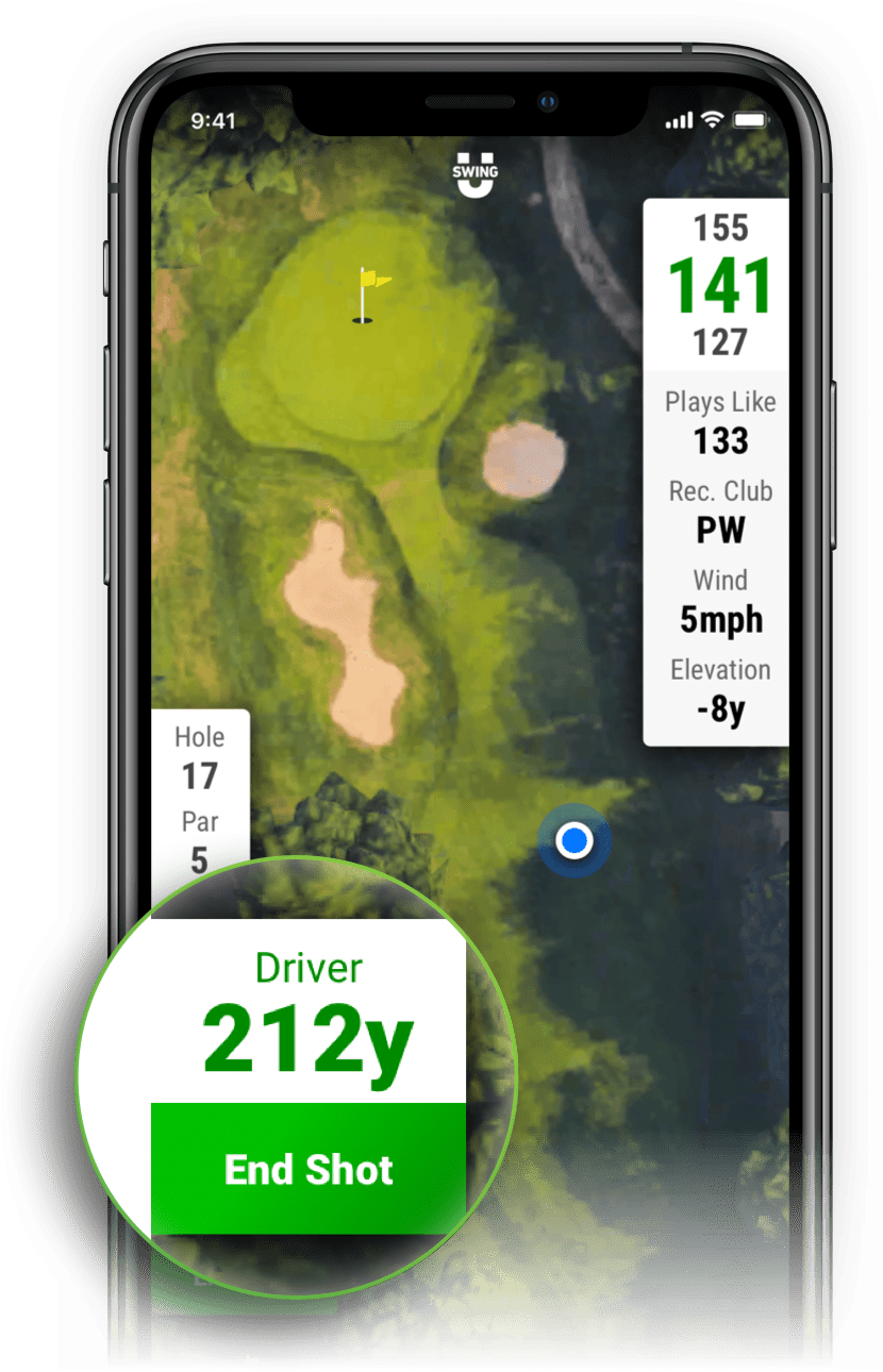 SwingU Golf GPS - Shot Tracking