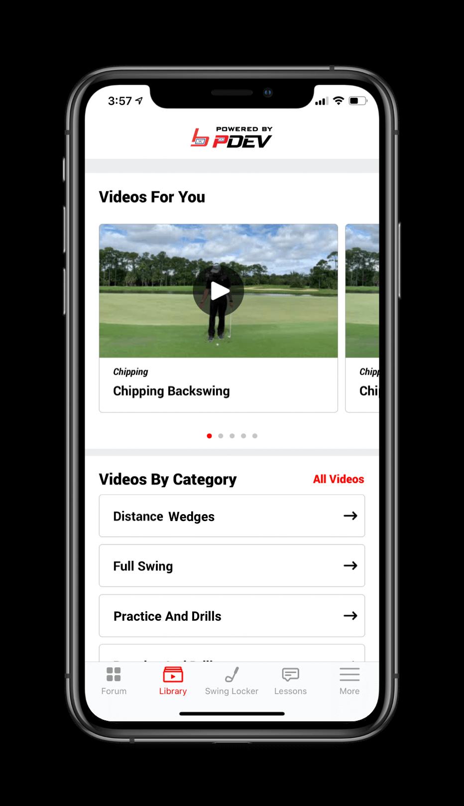 SwingU Academies Custom Branded App